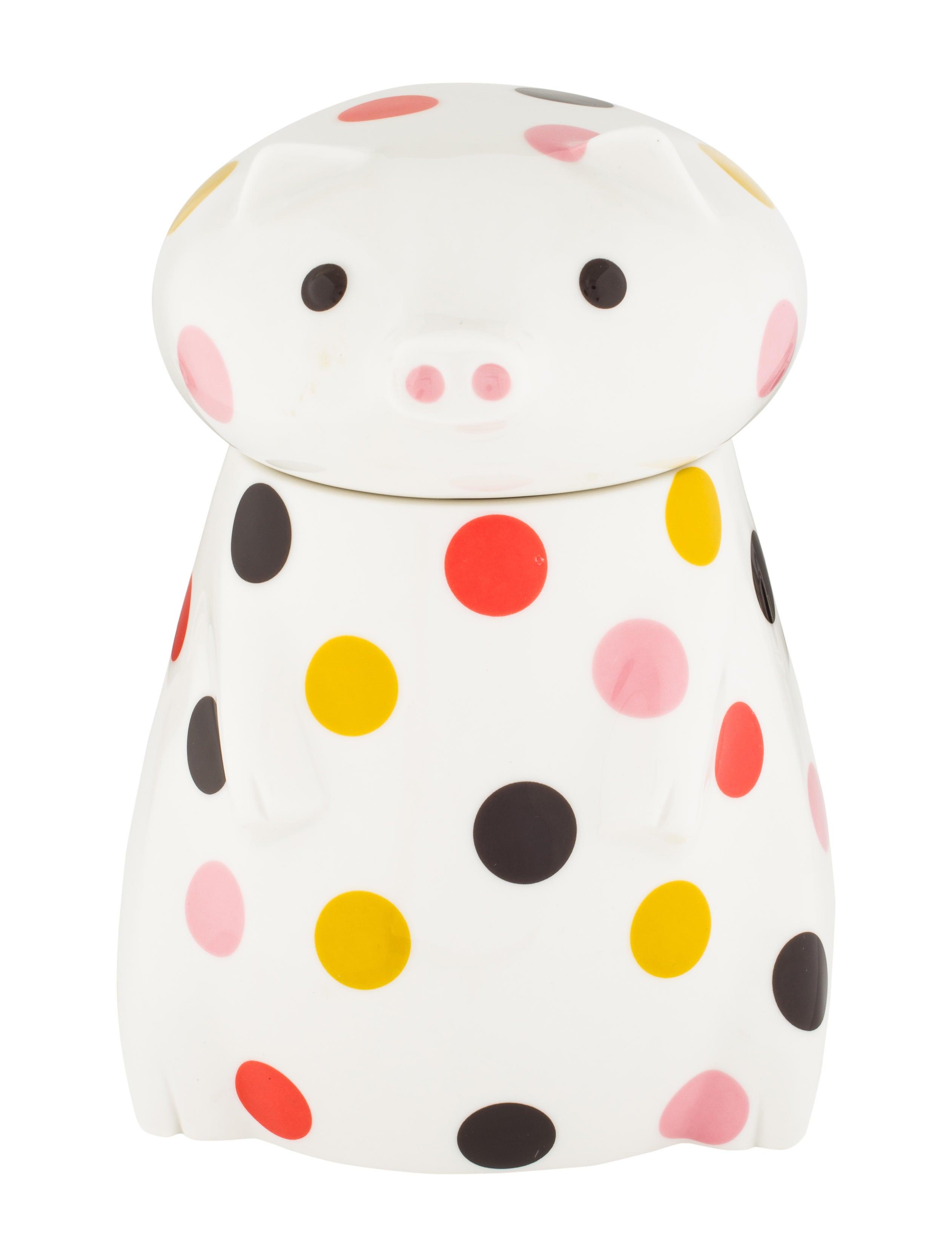 Jonathan Adler Ceramic Pig Canister - Tabletop And Kitchen ...