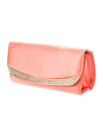 Embellished Satin Shoulder Bag