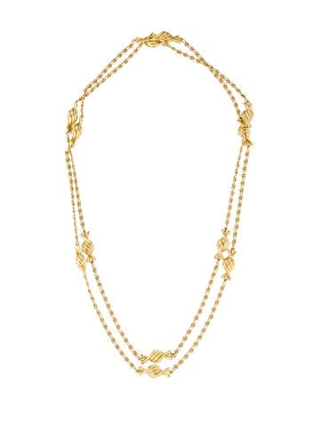 Judith Leiber Twist Candy Chain Necklace