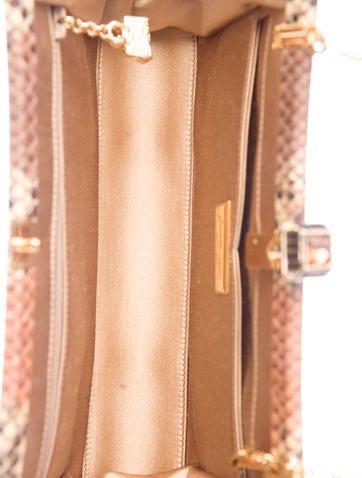 Snakeskin Frame Clutch