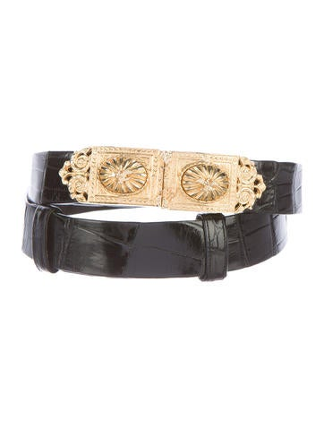 Judith Leiber Alligator Waist Belt