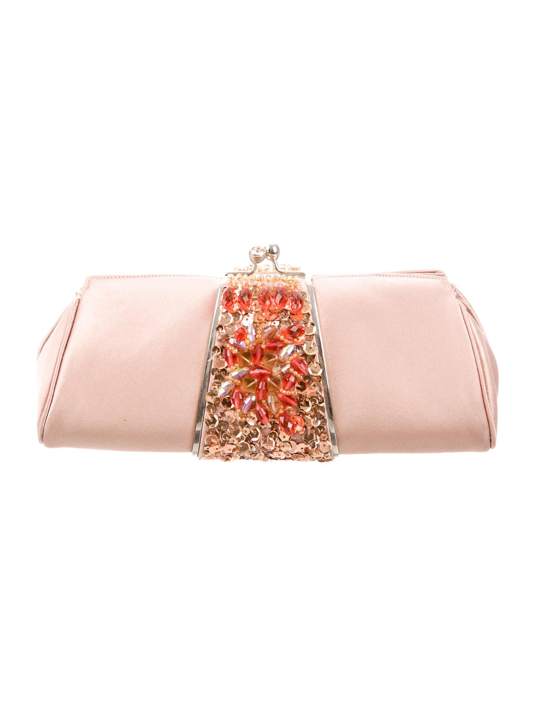 Jeweled Satin Evening Bag