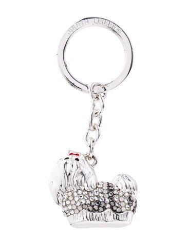 Judith Leiber Embellished Dog Keychain
