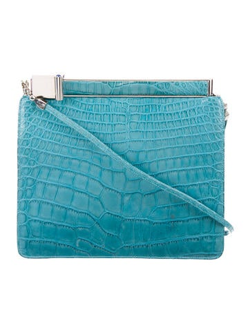 Judith Leiber Small Crocodile Crossbody Bag