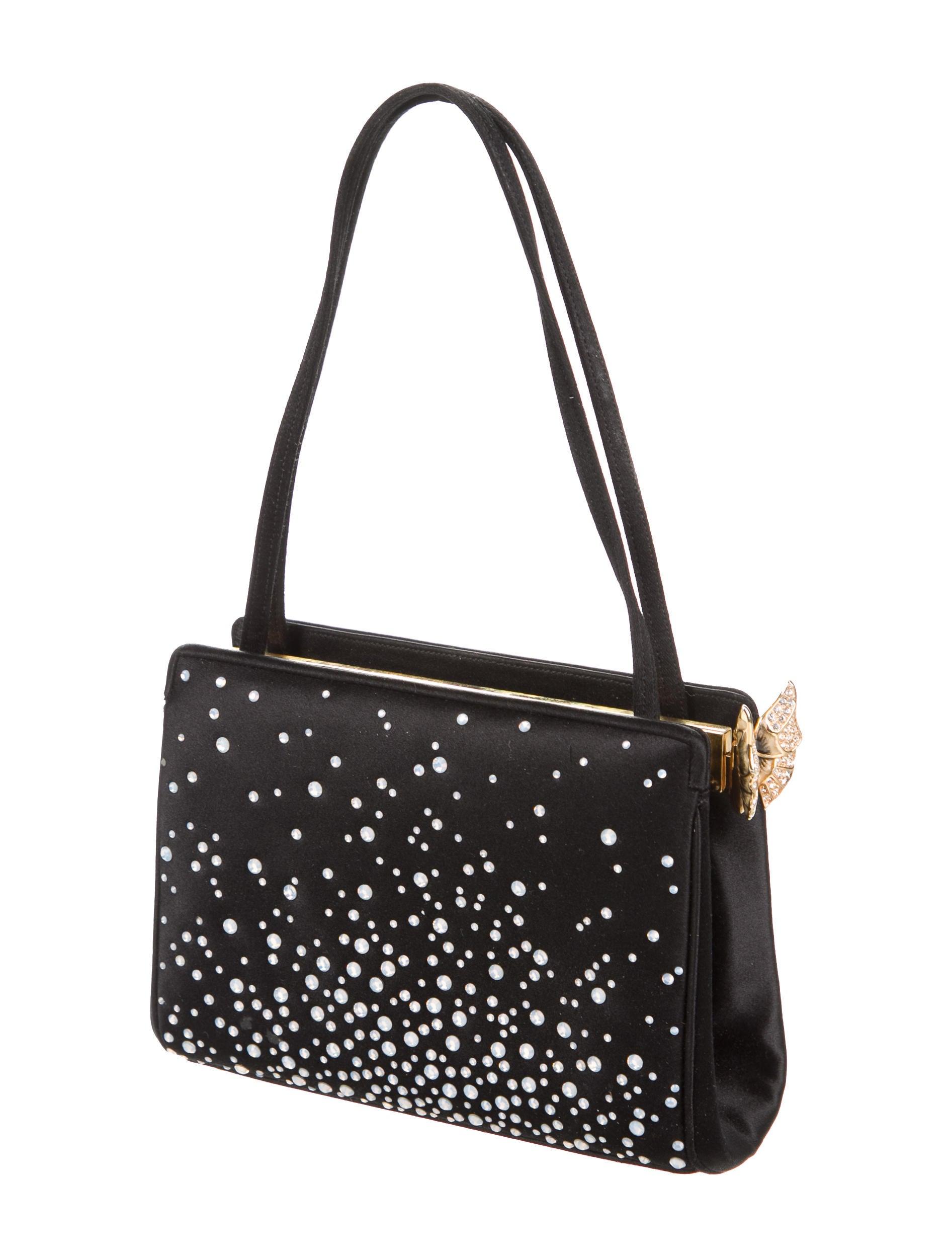 Judith Leiber Satin Embellished Bag - Handbags