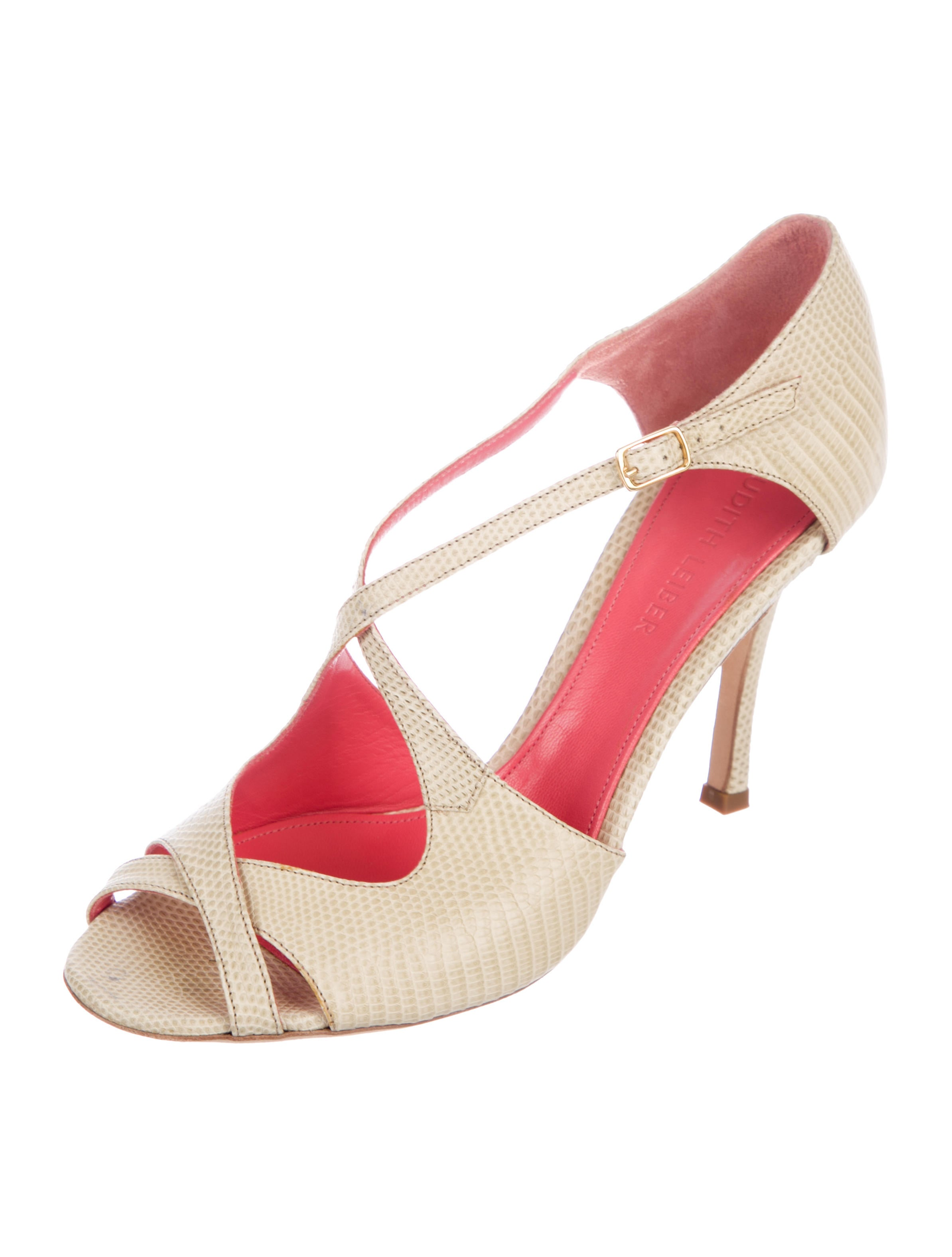 clearance eastbay Judith Leiber Lizard Crossover Sandals clearance best wholesale ZntSVZ0shu