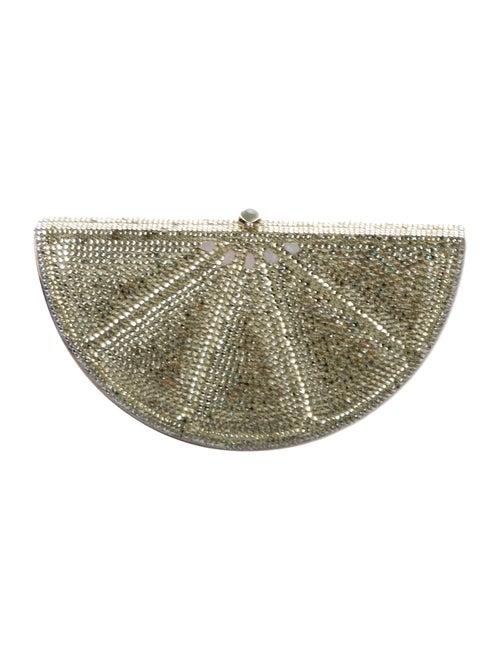 Judith Leiber Crystal-Embellished Lime Evening Bag