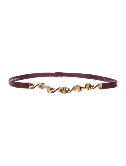 Judith Leiber Leather Waist Belt gold