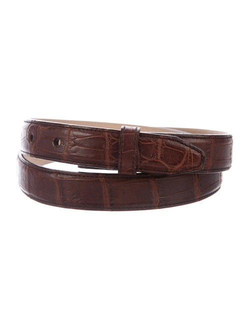 Judith Leiber Alligator Hip Belt brown