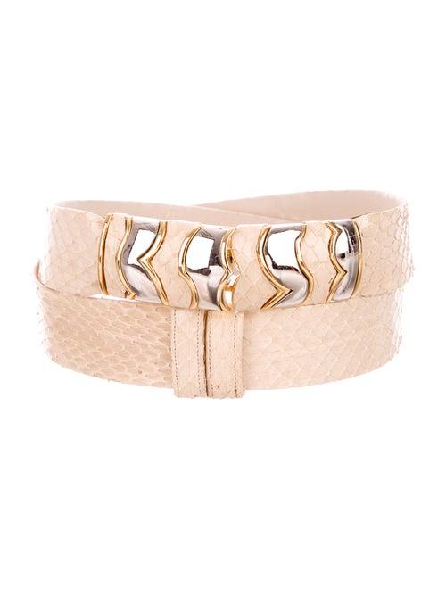 Judith Leiber Snakeskin Hip Belt - image 1