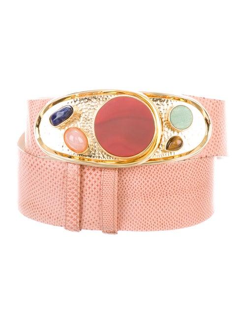 Judith Leiber Embellished Waist Belt Pink - image 1
