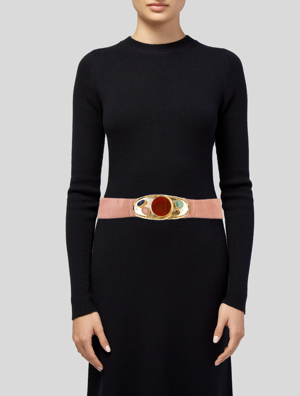 Judith Leiber Embellished Waist Belt Pink - image 2