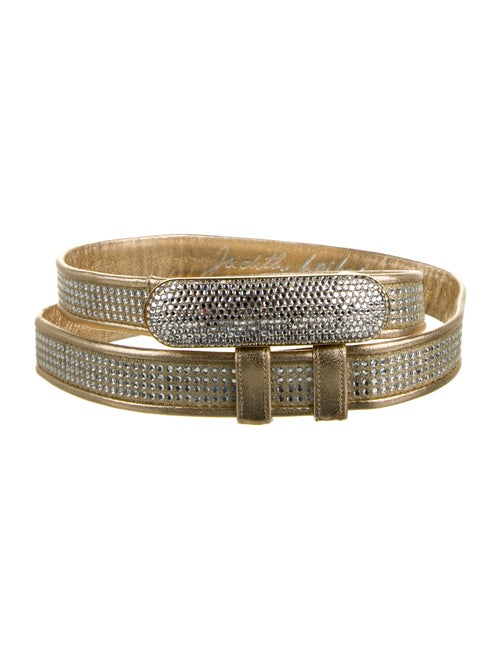 Judith Leiber Embellished Metallic Belt Metallic