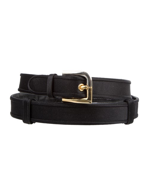 Judith Leiber Satin Hip Belt Black