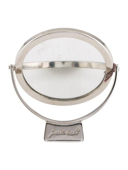 Judith Leiber Metal Compact Mirror Silver