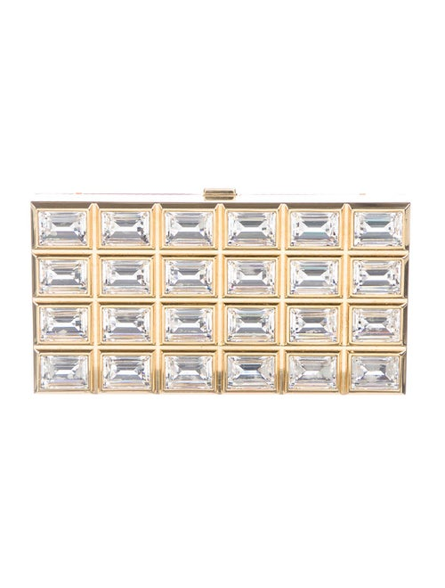 Judith Leiber Crystal-Embellished Box Clutch Gold