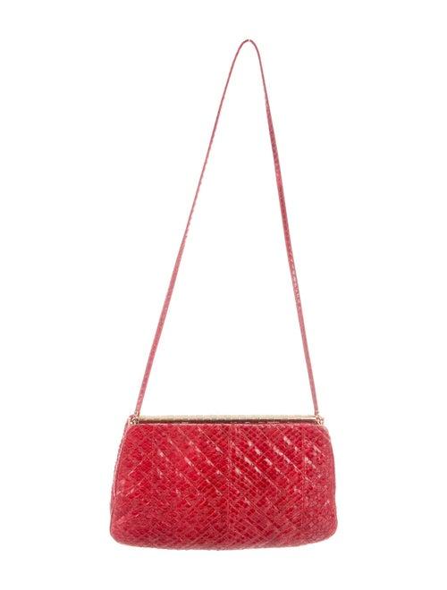 Judith Leiber Snakeskin Evening Bag Red