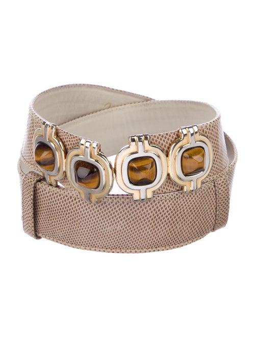 Judith Leiber Lizard Belt Gold