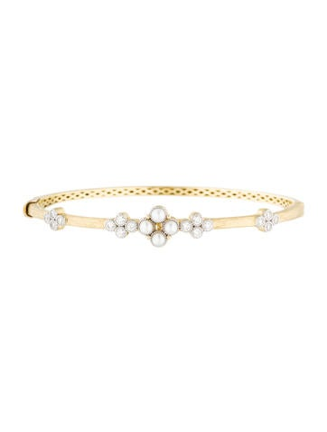 Jude Frances 18K Provence Pearl & Diamond Bangle Bracelet