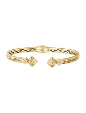Jude Frances 18K Citrine & Diamond Cuff Bracelet