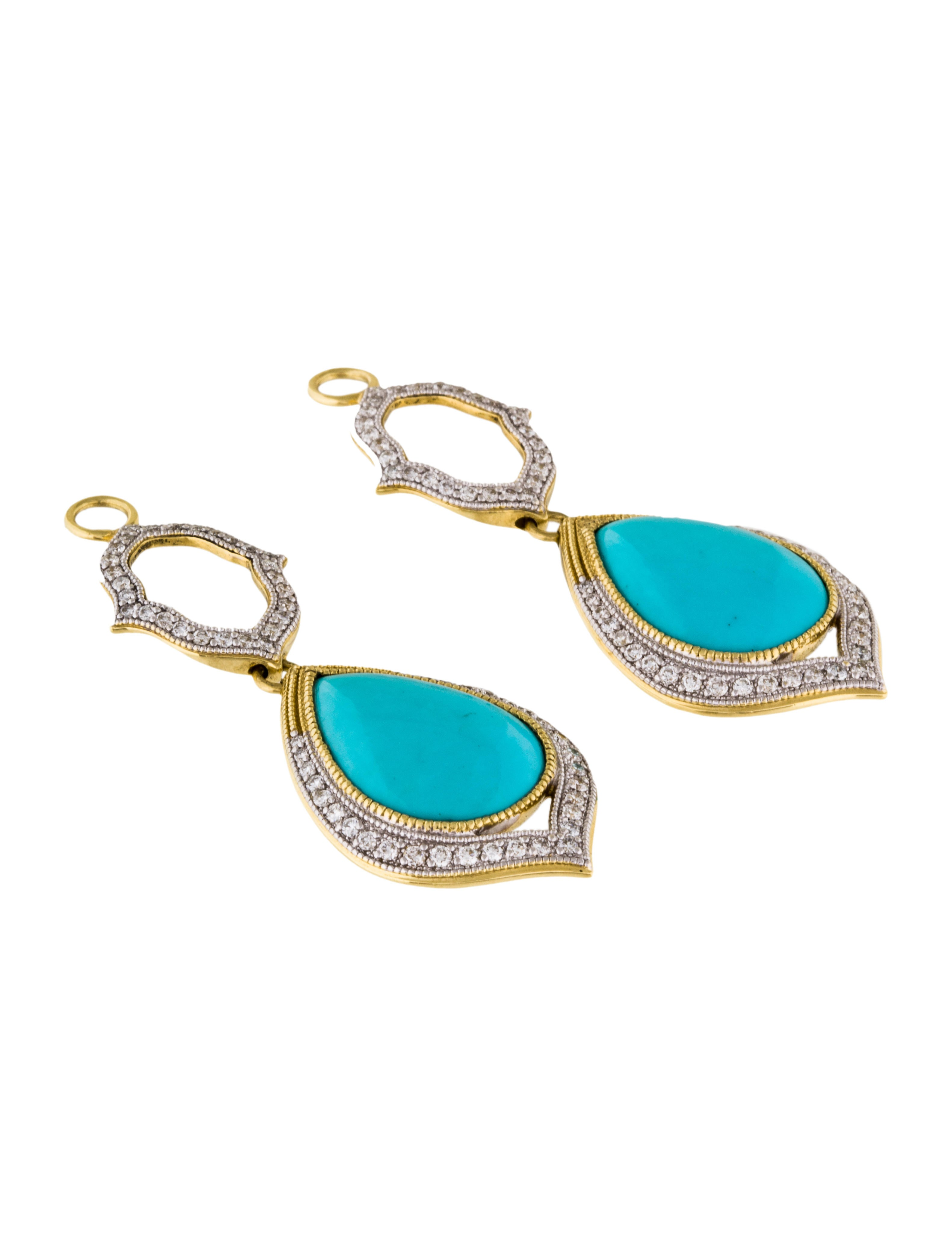 10 Kitchen And Home Decor Items Every 20 Something Needs: Jude Frances Open Moroccan Double Drop Turquoise Earring