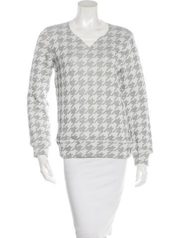 Junya Watanabe Houndstooth Knit Sweatshirt None