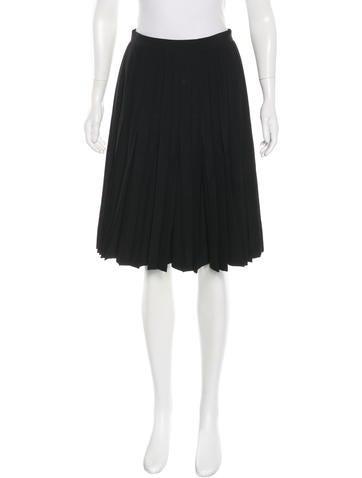 Junya Watanabe Pleated Wool Skirt None