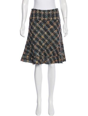 Junya Watanabe Wool Blend Tweed Skirt None