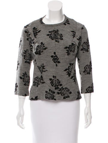 Junya Watanabe Wool Bow-Accented Top None