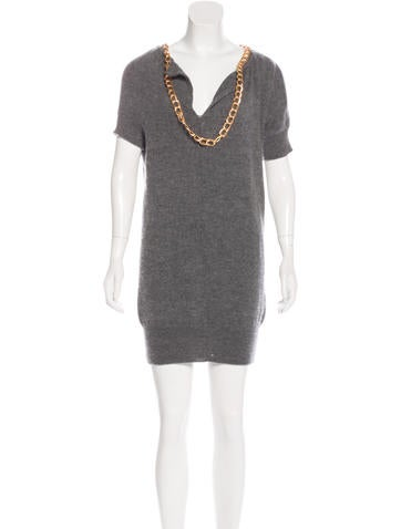 Junya Watanabe Wool Sweater Dress None