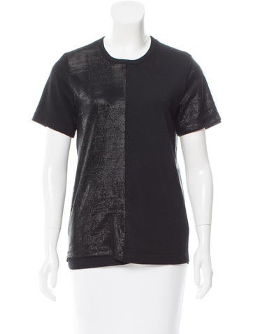 Junya Watanabe Crew Neck Overlay-Accented Top None