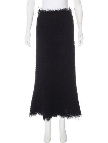 Junya Watanabe Wool Midi Skirt None