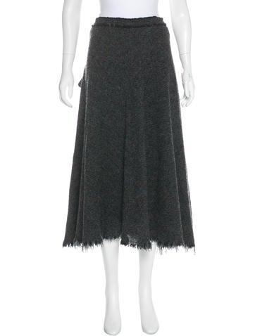 junya watanabe tweed midi skirt clothing jun22084