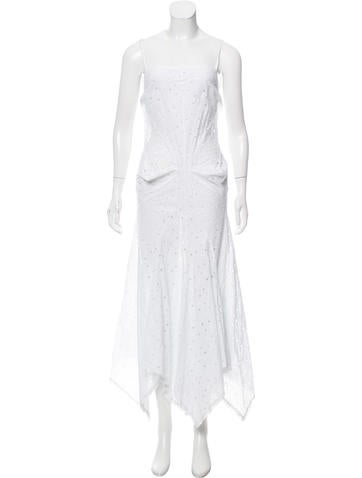 Junya Watanabe Sleeveless Lace Maxi Dress None