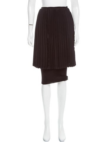 Junya Watanabe Pleated Knee-Length Skirt None