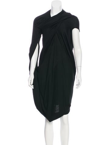 Junya Watanabe Draped Wool Dress None