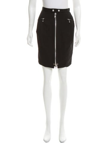 Junya Watanabe Knee-Length Wool Skirt None