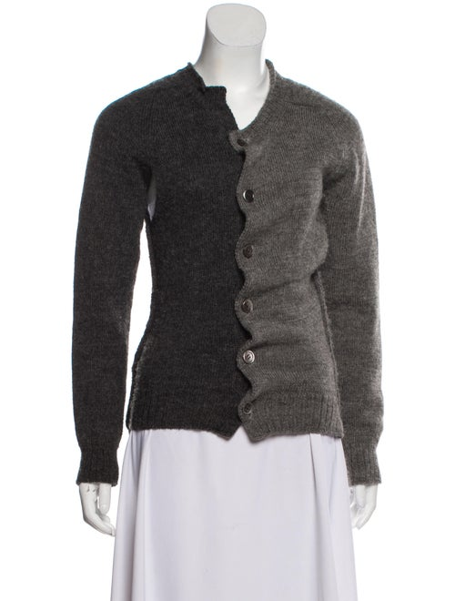 Junya Watanabe Wool Button-Up Cardigan Grey