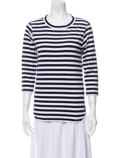 Junya Watanabe Striped Crew Neck T-Shirt White