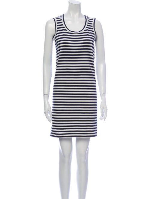 Junya Watanabe Striped Mini Dress Blue