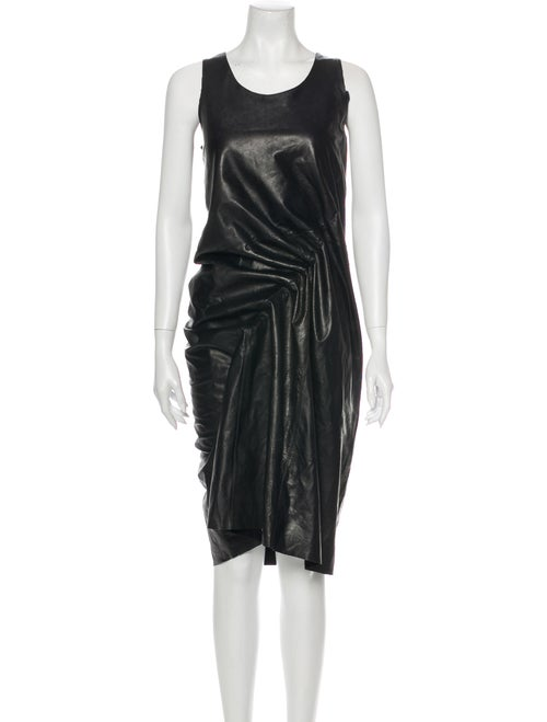 Junya Watanabe Leather Midi Length Dress Black