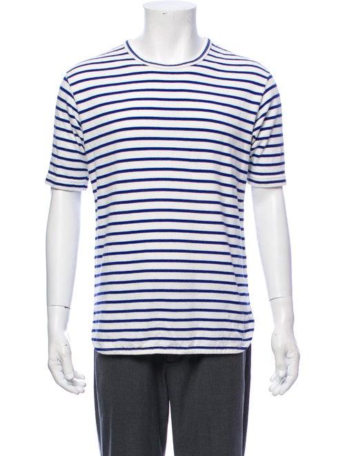 Junya Watanabe Striped Knit T-Shirt white