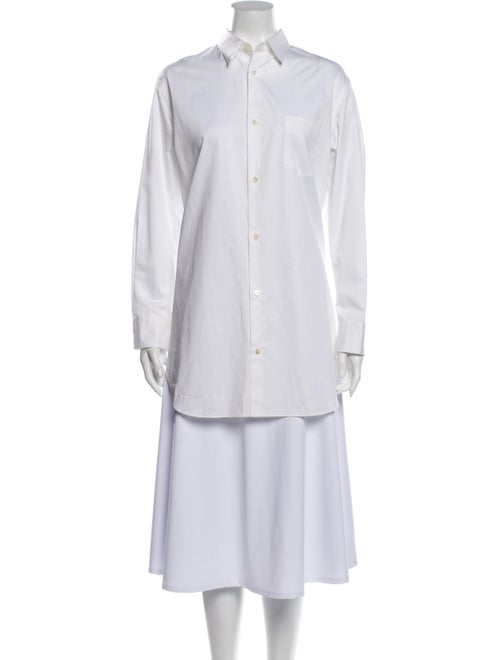 Junya Watanabe Long Sleeve Button-Up Top White