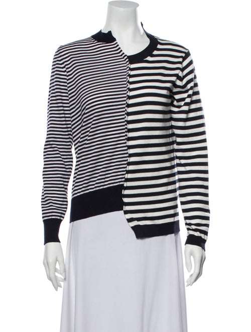 Junya Watanabe Striped Asymmetrical Sweater Blue