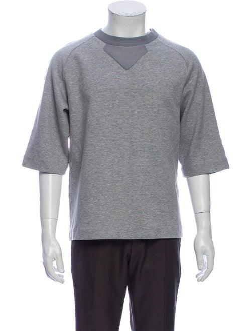 Juun.J Crew Neck Short Sleeve Sweatshirt Grey
