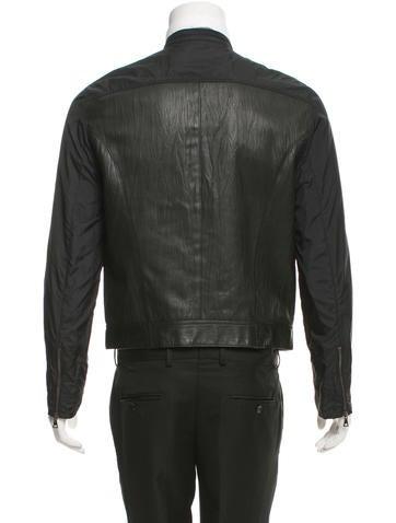 John Varvatos Paneled Leather Bomber Jacket - Clothing - JVA21489