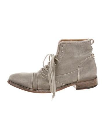John Varvatos Canvas Ankle Boots None