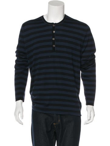 John Varvatos Striped Wool Sweater None