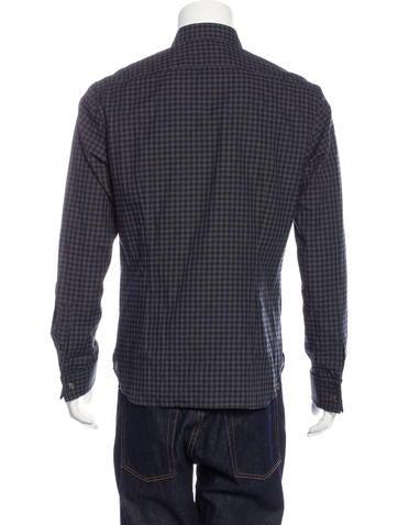 John varvatos gingham french cuff shirt w tags clothing for Gingham french cuff shirt