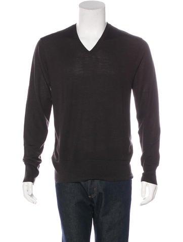 John Varvatos Wool V-Neck Sweater None